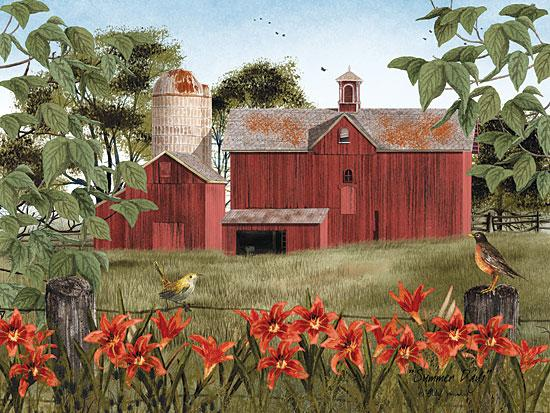 Billy Jacobs BJ1036 - Summer Days - Summer, Flowers, Birds, Barn, Farm from Penny Lane Publishing