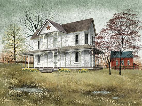 Billy Jacobs BJ1039 - April Showers - House, Trees, Barn Star, Rain from Penny Lane Publishing