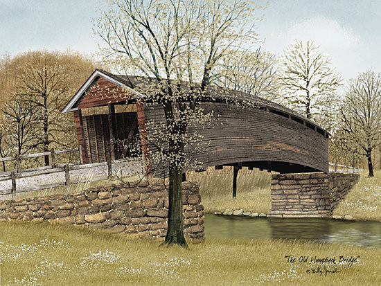 Billy Jacobs BJ1047 - The Old Humpback Bridge - Bridge, Rocks, Creek, Trees, Landscape from Penny Lane Publishing