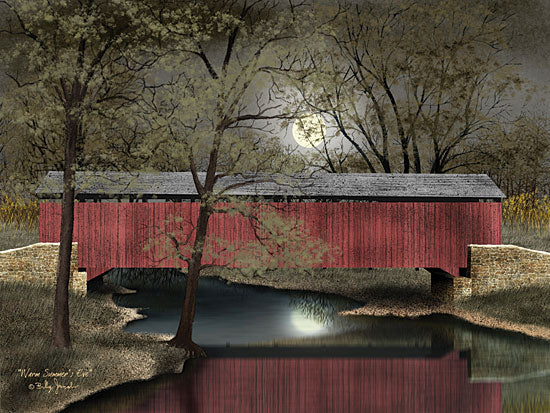 Billy Jacobs BJ1048 - Warm Summer's Eve - Night, Moon, Bridge, Trees from Penny Lane Publishing