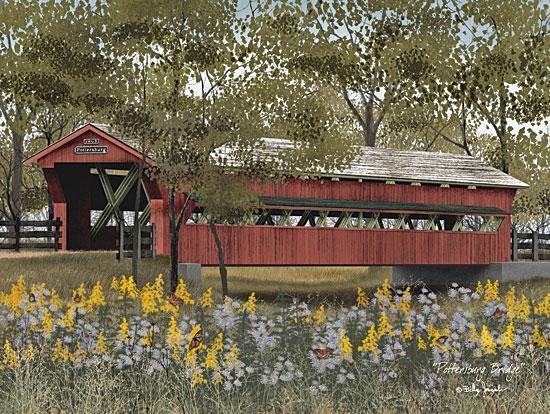 Billy Jacobs BJ1049 - Pottersburg Bridge - Flowers, Bridge, Trees from Penny Lane Publishing