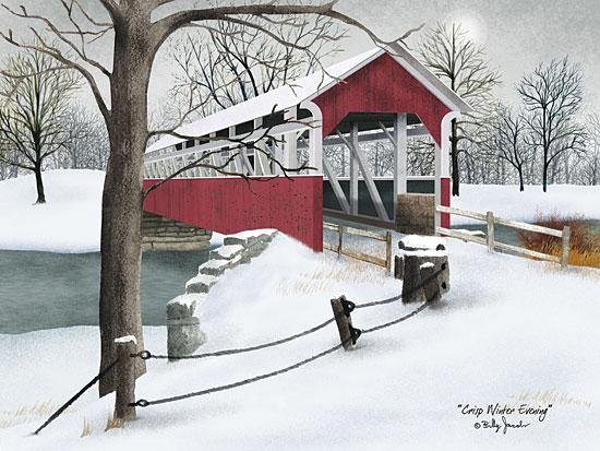 Billy Jacobs BJ1054 - Crisp Winter Evening - Bridge, Snow, Winter from Penny Lane Publishing