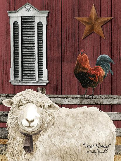 Billy Jacobs BJ1055 - Good Morning - Sheep, Rooster, Barn, Barn Star, Farm from Penny Lane Publishing