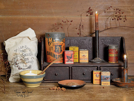Billy Jacobs BJ1060 - Sugar and Spice - Sugar, Spices, Candle, Berries, Bowl, Kitchen, Antiques from Penny Lane Publishing