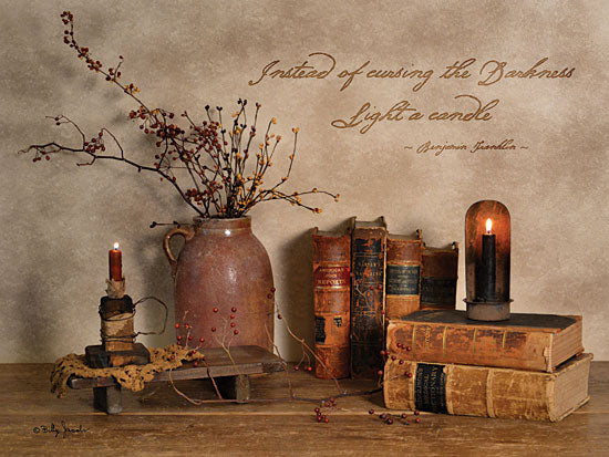 Billy Jacobs BJ1064 - Light a Candle - Candle, Vase, Berries, Books, Antiques from Penny Lane Publishing