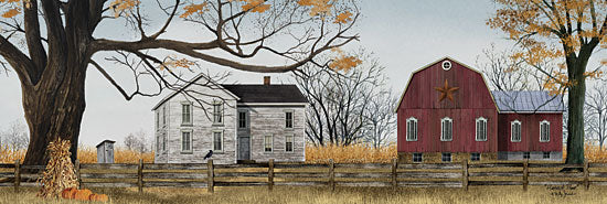 Billy Jacobs BJ1070 - Harvest Time  - Barn, House, Autumn, Haystacks, Pumpkins from Penny Lane Publishing