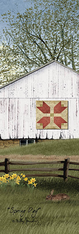 Billy Jacobs BJ1071C - BJ1071C - Spring Day - 12x36 Barn, Farm, Quilt Block, Flowers, Rabbit, Tree, Spring from Penny Lane