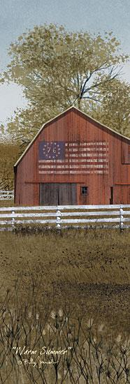 Billy Jacobs BJ1072 - Warm Summer - Summer, Barn, American Flag, Farm from Penny Lane Publishing