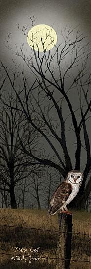 Billy Jacobs BJ1073 - Barn Owl - Moon, Owl, Trees, Night, Field from Penny Lane Publishing