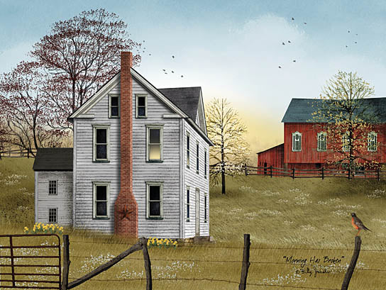 Billy Jacobs BJ1075 - Morning Has Broken - House, Barn, Trees, Fence, Sun from Penny Lane Publishing