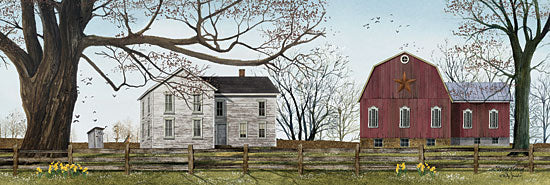 Billy Jacobs BJ1077 - Spring Morning  - Spring, Farm, Barn, House, Trees, Flowers from Penny Lane Publishing