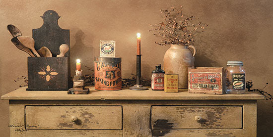 Billy Jacobs BJ1088A - Mama's Pantry - Pantry, Candle, Spoons, Antiques, Berries from Penny Lane Publishing