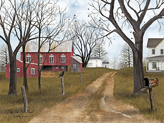 Billy Jacobs BJ1089 - The Old Dirt Road  - Road, Path, Trees, Barn, Mailbox, Birds from Penny Lane Publishing