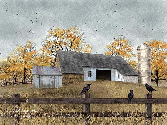 Billy Jacobs BJ1095 - A Casual Conversation - Barn, Farm, Birds, Fence, Autumn from Penny Lane Publishing