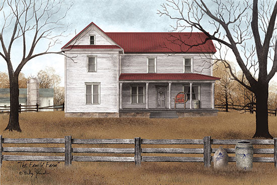 Billy Jacobs BJ1096 - The Family Farm - House, Homestead, Fence, Trees, Country from Penny Lane Publishing