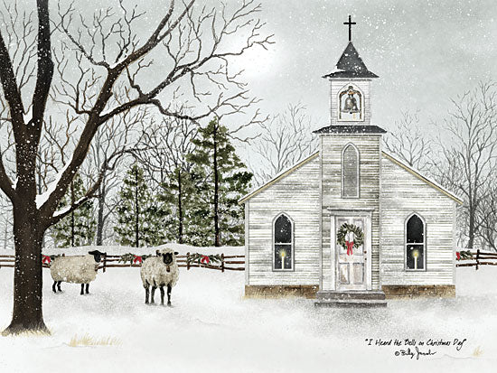 Billy Jacobs BJ1098 - I Heard the Bells on Christmas Day  - Church, Sheep, Holiday, Snow, Trees from Penny Lane Publishing