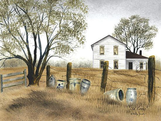 Billy Jacobs BJ109B - Old Crocks - Crocks, Fence, House, Trees, Antiques from Penny Lane Publishing