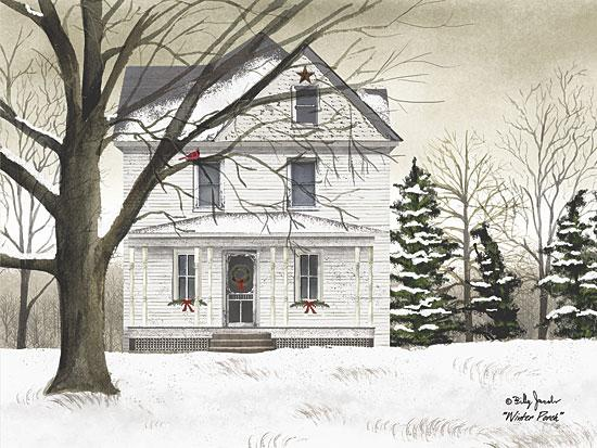 Billy Jacobs VJ1100A - Winter Porch - Winter, Snow, House, Porch from Penny Lane Publishing