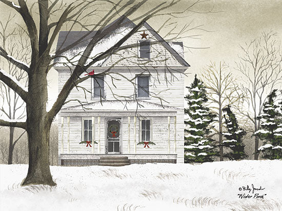 Billy Jacobs BJ1100A - Winter Porch - Winter, Snow, House, Porch from Penny Lane Publishing