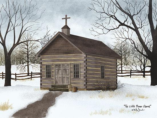 Billy Jacobs BJ1103 - Little Brown Church - Log Cabin, Church, Winter, Snow from Penny Lane Publishing