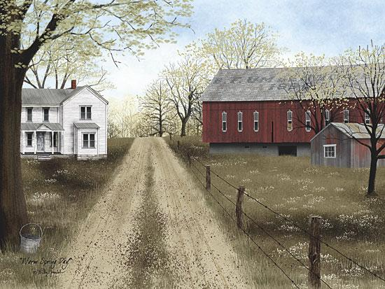 Billy Jacobs BJ1106A - Warm Spring Day - Farm, Path, Barn, House from Penny Lane Publishing