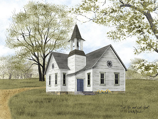 Billy Jacobs BJ1109 - Let Go and Let God - Church, Field, Trees from Penny Lane Publishing