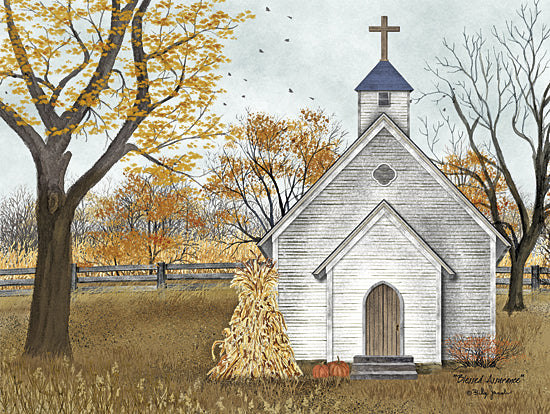 Billy Jacobs BJ1112 - Blessed Assurance - Church, Inspirational, Fall, Autumn, Haystacks from Penny Lane Publishing