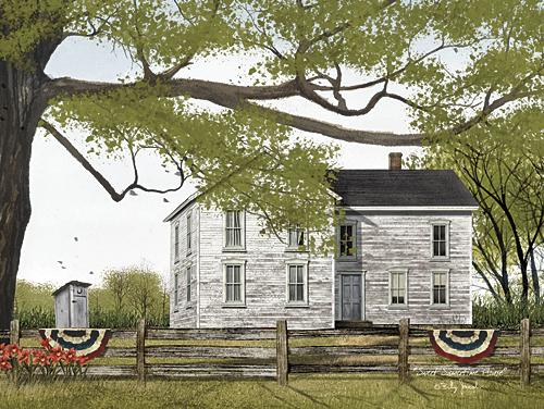Billy Jacobs BJ1119 - Sweet Summertime House - House, Outhouse, Patriotic, Landscape from Penny Lane Publishing