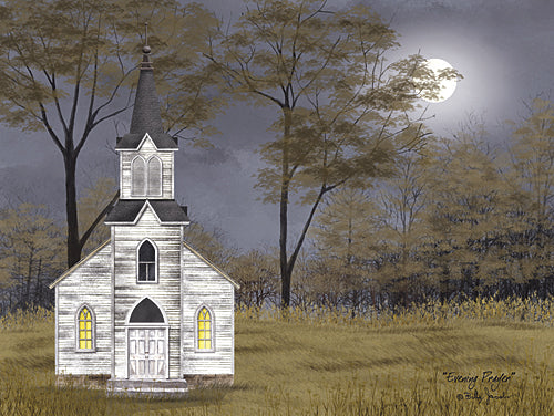Billy Jacobs BJ1122 - Evening Prayer - Church, Evening, Moon, Landscape, Religious from Penny Lane Publishing