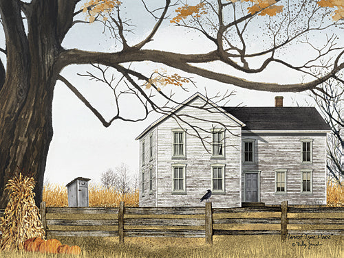 Billy Jacobs BJ1126 - Harvest Time House - Autumn, Pumpkins, House, Outhouse, Landscape, Nature, Fall from Penny Lane Publishing