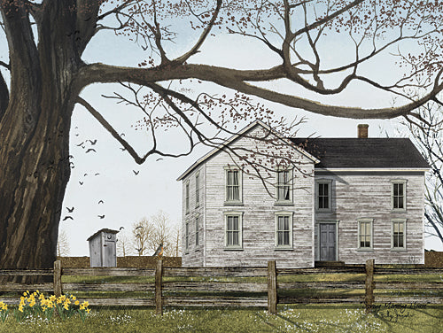Billy Jacobs BJ1128 - Spring Morning House - House, Outhouse, Bird, Landscape, Floral from Penny Lane Publishing