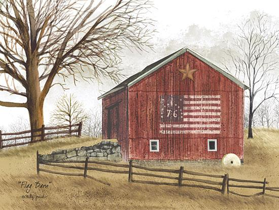 Billy Jacobs BJ112 - Flag Barn - Barn, American Flag, Farm, Barn Star from Penny Lane Publishing
