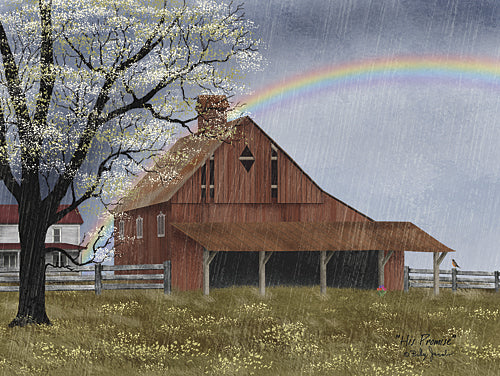 Billy Jacobs BJ1132 - His Promise - Barn, Rainbow, Farm, Landscape, Religious from Penny Lane Publishing