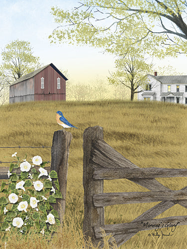 Billy Jacobs BJ1133 - Morning's Glory - Bird, Morning Glory, Farm, Landscape from Penny Lane Publishing