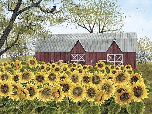 Billy Jacobs BJ1134 - Sunshine - Barn, Sunflower, Farm, Landscape from Penny Lane Publishing