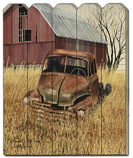 Billy Jacobs BJ1140PF - Granddad's Old Truck - Barn, Truck, Grandpas Truck, Farm, Farmhouse, Barnlife, Landscape, Slat Wood, Picket Fence from Penny Lane Publishing