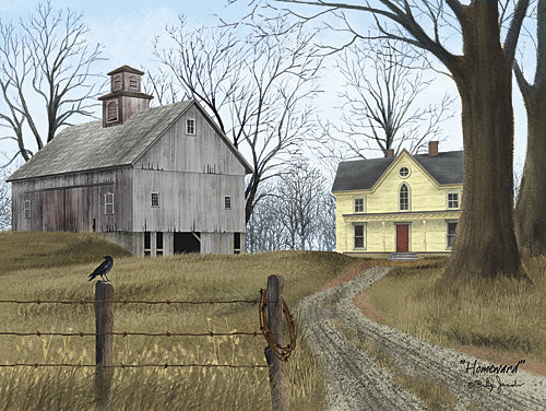 Billy Jacobs BJ1151 - Homeward - Barn, Path, Farm, Landscape from Penny Lane Publishing
