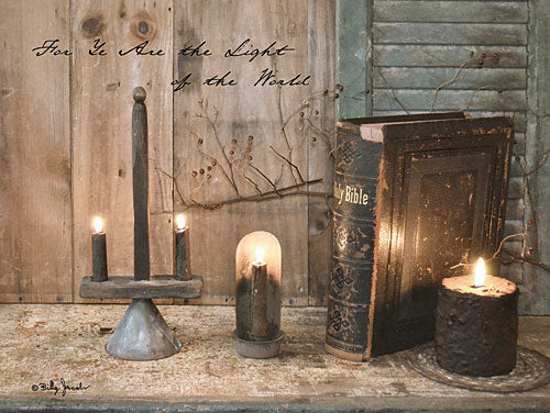 Billy Jacobs BJ1155 - For Ye are the Light - Still Life, Inspirational, Bible, Candle from Penny Lane Publishing