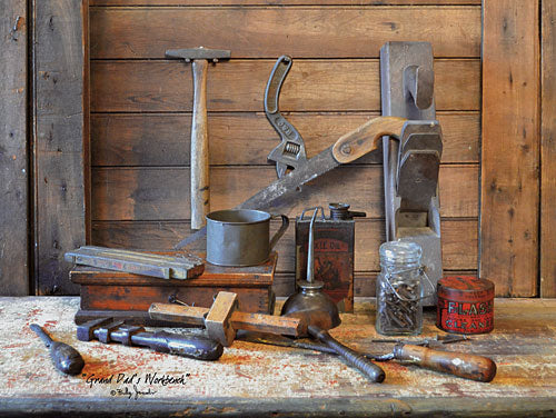 Billy Jacobs BJ1157 - Grand Dad's Work Bench - Family, Tools, Grandfaher, Workshop, Country from Penny Lane Publishing