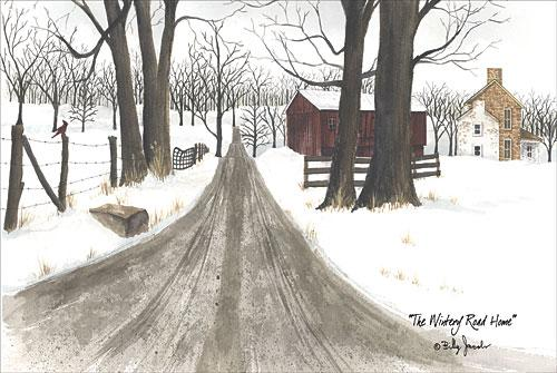 Billy Jacobs BJ1159 - The Wintery Road Home - Farm, Path, Barn, Country from Penny Lane Publishing