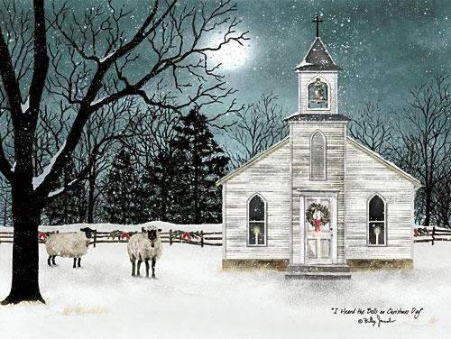 Billy Jacobs BJ1160 - I Heard the Bells on Christmas Day - Church, Snow, Holiday, Sheep, Trees, Moon, Night from Penny Lane Publishing
