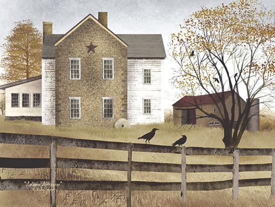 Billy Jacobs BJ117 - Autumn Afternoon - Autumn, Crows, House, Barn, Farm from Penny Lane Publishing