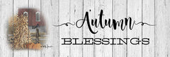 BJ1237B - Autumn Blessings - 36x12