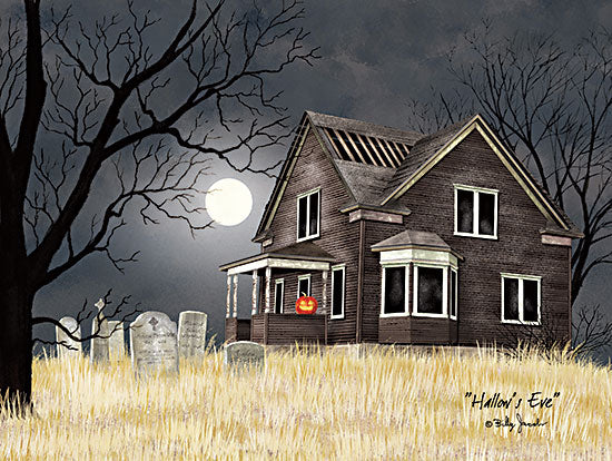 Billy Jacobs BJ1268 - BJ1268 - Hallow's Eve - 16x12 Halloween, Hallow's Eve, Moon, House, Haunted House from Penny Lane