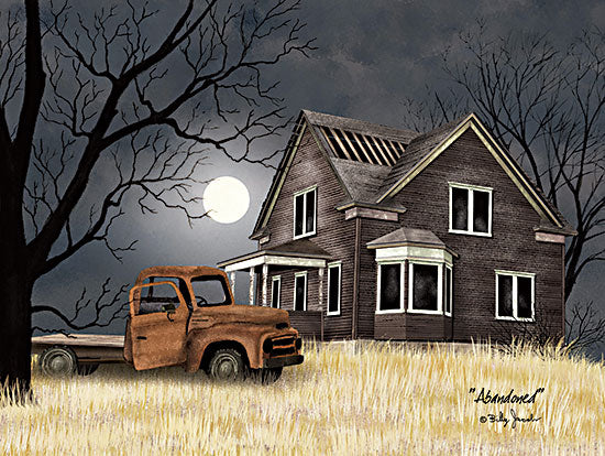 Billy Jacobs BJ1269 - BJ1269 - Abandoned - 16x12 Abandoned, Truck, House, Moon, Tree, Seasons from Penny Lane