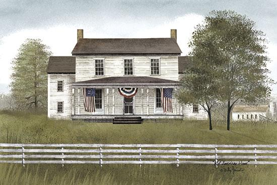 Billy Jacobs BJ133 - My American Home - House, American Flag, Swag, Fence, Trees from Penny Lane Publishing