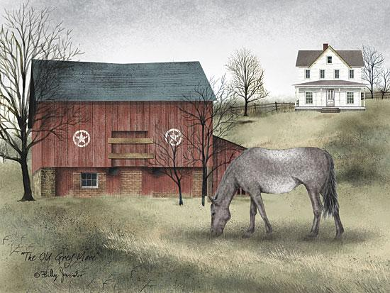 Billy Jacobs BJ135 - Old Grey Mare - Horse, Barn, House, Farm, Countryside from Penny Lane Publishing