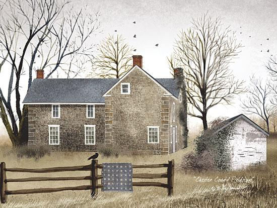 Billy Jacobs BJ136 - Chester County Fieldstone - Stone House, Quilt, Fence, Landscape from Penny Lane Publishing