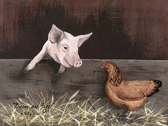 Billy Jacobs BJ138 - Bacon and Eggs - Pig, Chicken Straw, Farm from Penny Lane Publishing