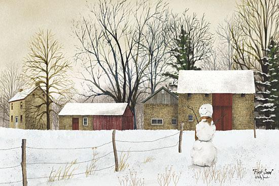 Billy Jacobs BJ145B - First Snow - Snowman, Snow, Farm from Penny Lane Publishing